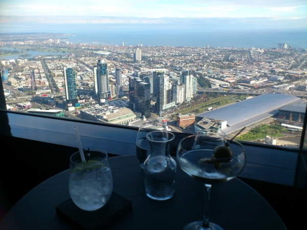View from the 55th floor of the Rialto - Lui Bar.