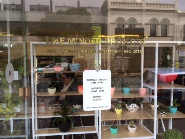 Shop window with sign - Like Minded Projects